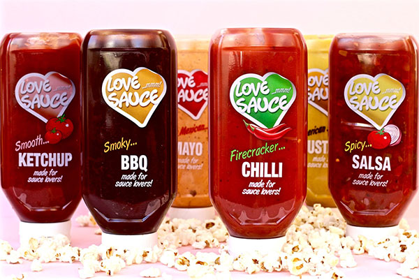 The Love Sauce range compliments Scandic Foods frankfurter range very well with the standard ketchup and mustard offerings.